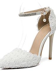 Недорогие -Жен. Кружева Весна & осень Свадебная обувь На шпильке Белый / Свадьба