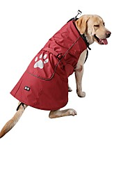 abordables -Perros Gatos Impermeable Chaleco Ropa para Perro Un Color Rojo Azul Nailon Disfraz Para Husky Labrador Malamute de Alaska Otoño Invierno Unisex Calentadores Ocasional / deportivo
