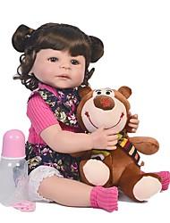 abordables -FeelWind Muñecas reborn Bebés Niños Bebés Niñas 22 pulgada Cuerpo completo de silicona Silicona - Niños / Adolescentes Adorable Encantador Kid de Unisex Juguet Regalo