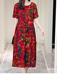 halpa -naisten midi löysä vaippa mekko punainen xl xxl xxxl xxxxl