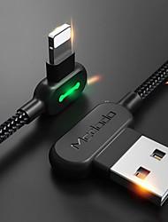 Недорогие -Подсветка Кабель 1m-1.99m / 3ft-6ft Плетение / Быстрая зарядка Нейлон Адаптер USB-кабеля Назначение iPhone