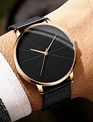 Недорогие -Муж. Нарядные часы Кварцевый Нержавеющая сталь Черный / Серебристый металл 30 m Защита от влаги Повседневные часы Крупный циферблат Аналоговый Классика Мода Простые часы - / Один год