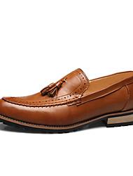 abordables -Homme Chaussures Formal Microfibre / Polyuréthane Printemps été Mocassins et Chaussons+D6148 Noir / Jaune / Rouge / Gland / Soirée & Evénement