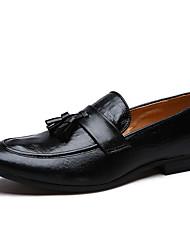 abordables -Homme Chaussures Formal Microfibre / Polyuréthane Printemps été Mocassins et Chaussons+D6148 Noir / Rouge / Gland / Soirée & Evénement