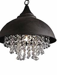 Недорогие -северная Европа старинные хрустальные подвесные светильники металлическая тень гостиная столовая люстра