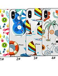 preiswerte -hülle für apple iphone xr / iphone xs max muster rückseitige abdeckung essen weiche tpu für iphone x xs 8 8plus 7 7plus 6 6plus 6s 6s plus