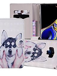 billige -Etui Til Samsung Galaxy Note 9 Pung / Kortholder / Med stativ Fuldt etui Hund Hårdt PU Læder for Note 9