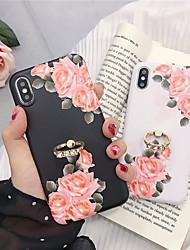Недорогие -чехол для яблока iphone xr / iphone xs max pattern / держатель кольца задняя крышка цветок мягкая тпу для iphone 6 6 плюс 6s 6s плюс 7 8 7 плюс 8 плюс x xs