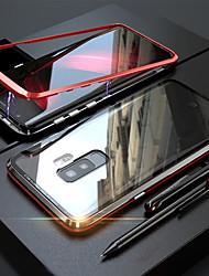 Недорогие -Кейс для Назначение SSamsung Galaxy S9 / S9 Plus / S8 Plus Магнитный Чехол Однотонный Твердый Закаленное стекло