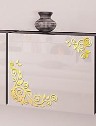 Недорогие -творческий акриловые наклейки на стену сделай сам мода цветок лоза зеркало наклейки на стены персонализированные украшения стены