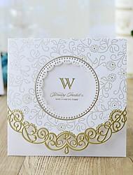 """رخيصةأون -ملفي دعوات الزفاف 10pcs - بطاقات الدعوة الأزهار ستايل أوراق لؤلؤة 6""""×6"""" (15*15cm)"""
