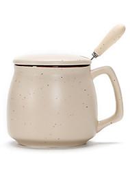Недорогие -керамическая кружка с крышкой ложка креативная пара завтрак чашка молока чашка кофе большая чашка воды