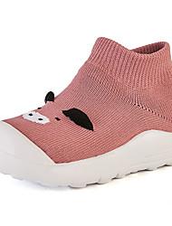 halpa -Poikien / Tyttöjen Kengät Neule Kevät Comfort Lenkkitossut varten Musta / Punainen / Pinkki