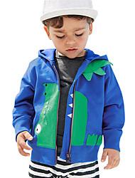levne -Děti / Toddler Chlapecké Základní Tisk Tisk Dlouhý rukáv Bavlna Mikinky Vodní modrá