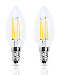 Недорогие -2pcs 4 W LED лампы накаливания 400 lm E14 C35 4 Светодиодные бусины Высокомощный LED Декоративная Тёплый белый Холодный белый 220-240 V