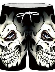 Недорогие -Муж. Спортивные / Классический Большие размеры Свободный силуэт Шорты Брюки - 3D-печати С принтом Черный XL XXL XXXL / Эластичность