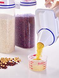 Недорогие -1шт Хранение сыпучих продуктов Пластик Прозрачный Body Многофункциональный