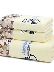 Недорогие -Высшее качество Набор банных полотенец, Мультипликация Чистый хлопок Ванная комната 2 pcs