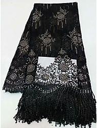 Недорогие -Африканское кружево Цветы С узором 125 cm ширина ткань для Особые случаи продано посредством 5Yard
