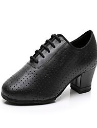 945e746d3c8 Γυναικεία Παπούτσια τζαζ Δέρμα Τακούνια MiniSpot Πυκνό τακούνι  Εξατομικευμένο Παπούτσια Χορού Μαύρο