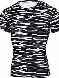 povoljno -Majica s rukavima Muškarci Prugasti uzorak Djetelina XL