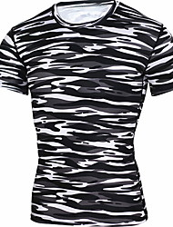 billige -Herre - Stribet T-shirt Grøn XL