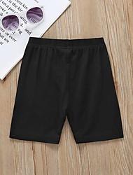 abordables -Enfants / Bébé Fille Basique / Chinoiserie Couleur Pleine Coton Leggings Beige