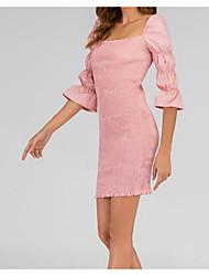 halpa -naisten yläpuolella polvi löysä keinu mekko hohtaa vaaleanpunainen s m l xl