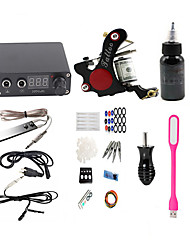 cheap -BaseKey Tattoo Machine Starter Kit - 1 pcs Tattoo Machines with 1 x 30 ml tattoo inks, Professional, New LED power supply Case Not Included 18 W 1 alloy machine liner & shader