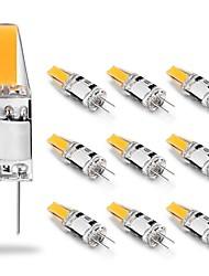 Недорогие -10 шт. 2 Вт светодиодные фонари 12 В переменного / постоянного тока 210lm cob светодиодные лампы 20 Вт галогенные лампы замена белый теплый белый для люстры дальность света