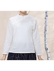 olcso -Vintage Női Ing - Egyszínű Fehér M