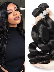 billige -3 Bundler Brasiliansk hår Løst, bølget hår Ubehandlet Menneskehår 100% Remy Hair Weave Bundles Hovedstykke Bundle Hair Hårforlængelse af menneskehår 8-28 inch Naturlig Menneskehår Vævninger Lugtfri