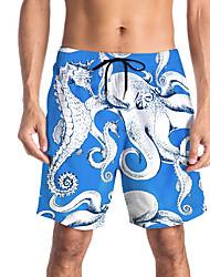 halpa -Miesten Urheilullinen / Perus Chinos housut / Shortsit Housut - Painettu / Patterned / 3D Print Uima-allas