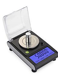 Недорогие -0,005 г 50 г высокой точности лаборатории вес лаборатории весы ювелирные изделия с бриллиантами травы грамм золота цифровые электронные весы