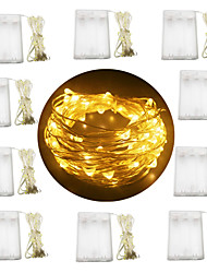 Недорогие -10 шт. 3 м 30 светодиодов фея строка огни 3aa батареи серебряный провод многоцветный / белый / теплый белый вечеринка / праздник / свадьба / декор дома без батареи