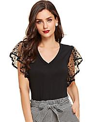 Χαμηλού Κόστους -Γυναικεία T-shirt Μονόχρωμο Μαύρο US4