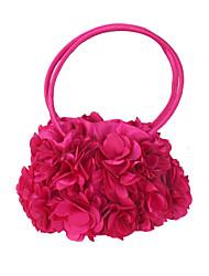 Недорогие -Жен. Цветы Шелк Вечерняя сумочка Сплошной цвет Черный / Пурпурный / Наступила зима