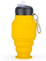 Недорогие -Бутылка для воды Складная бутылка для воды Силиконовые Портативные Складной для Отдых и Туризм Бокс Охота Желтый