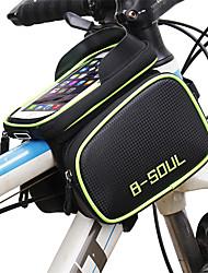 Недорогие -B-SOUL Сотовый телефон сумка Бардачок на раму 6.2 дюймовый Сенсорный экран Водонепроницаемость Компактность Велоспорт для Samsung Galaxy S6 Samsung Galaxy S6 edge LG G3 Синий Зеленый Красный