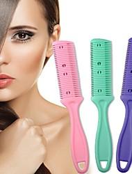 Недорогие -бритва для волос ручка для волос бритва для стрижки волос истончение гребень дома diy триммер внутри с лезвиями щетка для волос