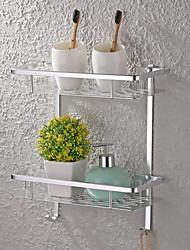 Недорогие -Полка для ванной Многослойный / Многофункциональный Modern Алюминий 1шт - Ванная комната Односпальный комплект (Ш 150 x Д 200 см) / Двуспальный комплект (Ш 200 x Д 200 см) На стену