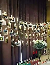 Недорогие -3м держатели для фото клипов гирлянды 20 светодиодов теплая белая комната декоративные батарейки 1 комплект