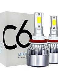 Недорогие -2pcs H7 / H4 / H3 Автомобиль Лампы 18 W COB 8000 lm 1 Светодиодная лампа Противотуманные фары / Налобный фонарь Назначение Универсальный Все года