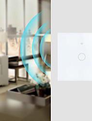 Недорогие -Smart Switch Функция синхронизации / Управляйте своим устройством из любого места 1шт Закаленное стекло / ПК В-Wall WiFi-Enabled / ПРИЛОЖЕНИЕ / Управление голосом Amazon Alexa Echo / Google Assistant
