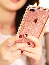Недорогие -Кейс для Назначение Apple iPhone XS / iPhone XR / iPhone XS Max Стразы / Сияние и блеск Кейс на заднюю панель Сияние и блеск Твердый Металл