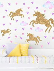 Недорогие -красочные облака и золотые лошади настенные наклейки - слова&усилитель; наклейки на стены цитаты / наклейки на стену самолета учебный кабинет / кабинет / столовая / кухня