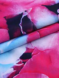 Недорогие -Джерси Цветы С узором 150 cm ширина ткань для Одежда и мода продано посредством метр