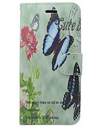 tanie -Kılıf Na Jabłko iPhone X / iPhone XS Etui na karty / Flip Pełne etui Solidne kolory / Motyl / Kwiat Twardość Skóra PU na iPhone XS / iPhone X / iPhone 8 Plus