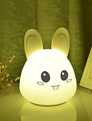 levne -1ks Rabbit LED noční světlo / Osvětlení noční školky / Book Light USB Komiks / Stres a úzkost Relief / Dobíjecí 5 V