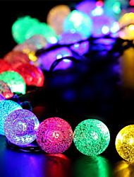 Недорогие -1 компл. Светодиодный фонарь солнечный свет строка 50 м 500 свет пузырьковый шар открытый водонепроницаемый свет украшения сада свет